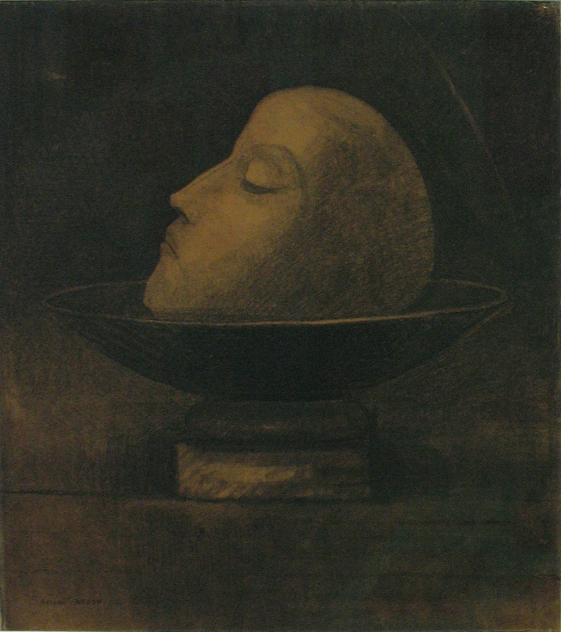 Head of a Martyr by Odilon Redon (1877)